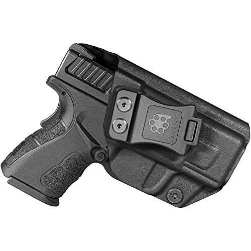 Amberide IWB KYDEX Holster Fit: Springfield XD MOD.2-3' Sub-Compact 9MM / .40S&W Pistol   Inside Waistband   Adjustable Cant   US KYDEX Made (Black, Right Hand Draw (IWB))