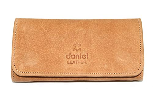 Pure Leather Tobacco Pouch Hold up to 50 Gram Bag (Tan)