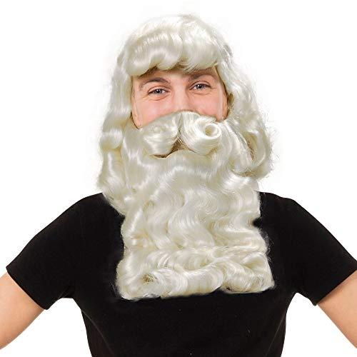 Bristol Novelty BW018 Kerstman pruik en baard, wit, één maat