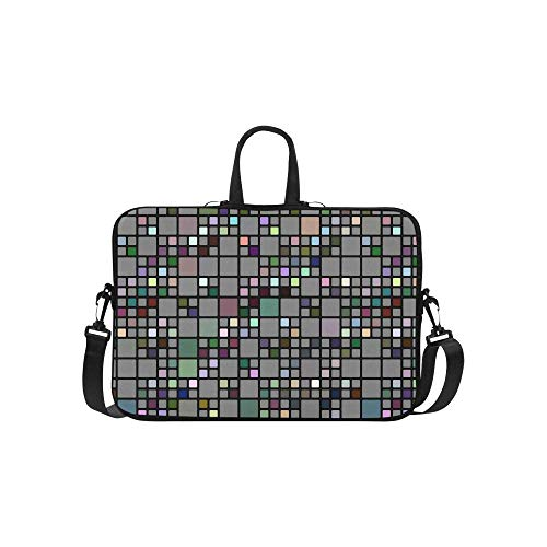 Abstact Checkered Cubes in Grey and Some Bright Colors Laptop Sleeve 15'