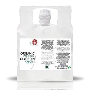 Glicerina Liquido Vegetal Pura natural Ecologica 99% PhEur Glicerol 100% Natural Grado farmaceutico y Alimentario, para Jabón, Cosmetica, 10 kg
