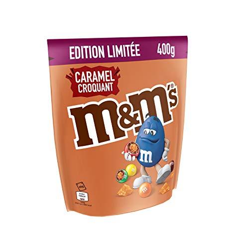 M&M's Crunchy Caramel Croquant Schokolinsen mit Karamellkern 400g limited Edition