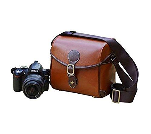 BV & Jo Elegante Funda de Piel sintética Vintage Bolsa para Nikon D3400, D3300, D3200, D3100, D5500, D5300, D5200, D5100, D810, D800, D700, D610D600D300, D7100, D7000, D90D80D60B500L840.