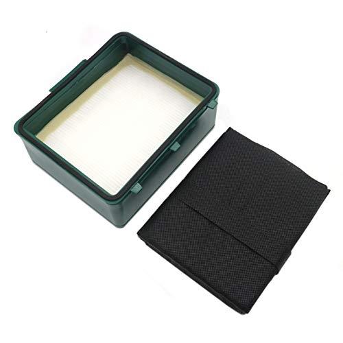 PUHE Partes de repuesto de aspirador filtro cassette ajuste para Vorwerk Tiger VK251 VK252 Aspiradora Accesorios Filtros Limpieza Hogar Accesorios