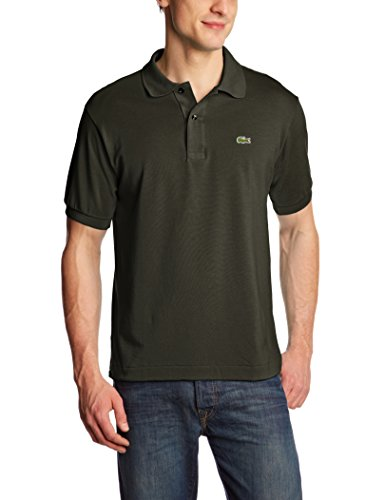 Lacoste Herren Regular Fit Poloshirt L1212 Einfarbig, Grün (BAOBAB S7T), XL (Herstellergröße: 6)