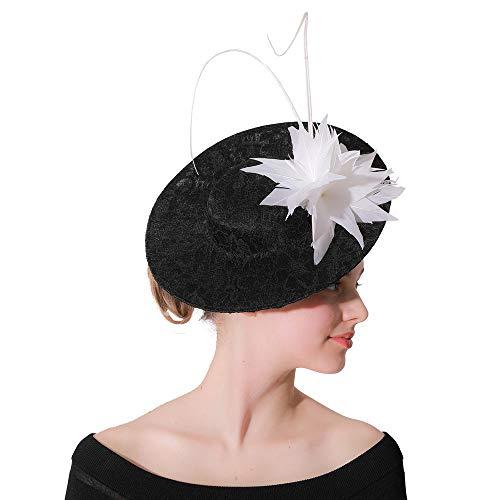 Sombrero tocados Sombrero de Fascinator Headwear cóctel for Pelo de la Flor...