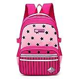Mochilas Escolares para niños Niñas Niños Mochilas de la Escuela Primaria Mochila Escolar Bolso para niños Zip Pink
