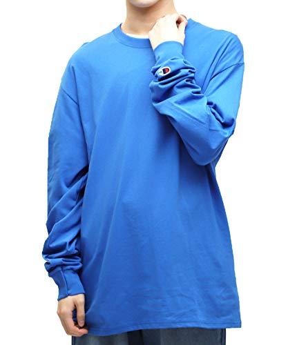 Champion(チャンピオン) ロングスリーブTシャツ メンズ ワンポイントロゴ ベーシック 長袖 Tシャツ S ロイヤルブルー