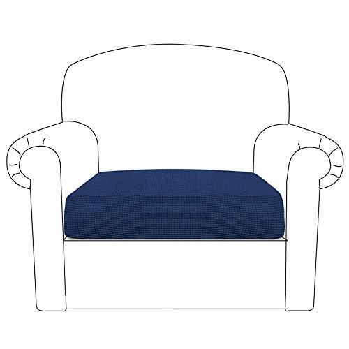 BellaHills Sofa Sitzkissenbezug Stretch Stuhl Schonbezug Spandex Elastic Couch Kissenbezüge Möbelschutz für Sofa Sitzkissen(1 Sitzer Kissen, Marine