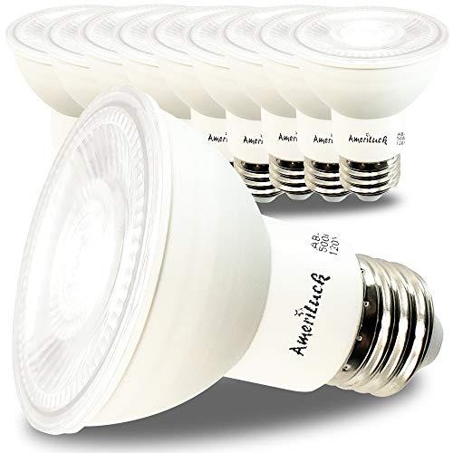 AmeriLuck PAR20 LED Bulbs, Dimmable Spot Light, 550 Lumens, 50W Equivalent (7W), 5000K Daylight, 10 Pack