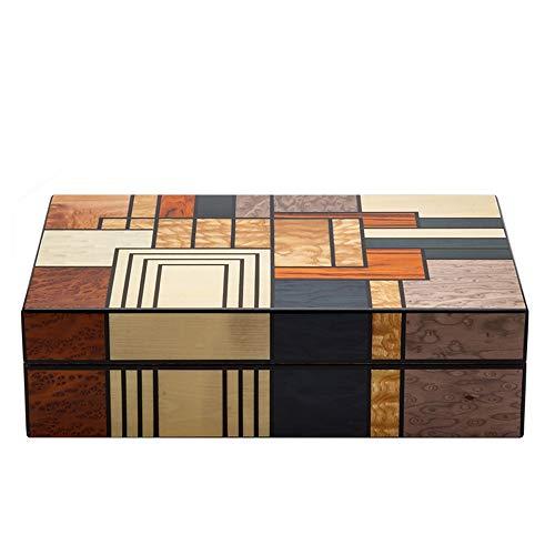 Jian Lin Humidificador de caja de cigarros Humidor de cigarros de madera de cedro Humidor de cigarros de madera Nivel de colección de artistas Humidificador de cigarros cubanos puros