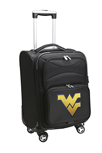 Denco NCAA West Virginia Mountaineers Domestic Carry-On Spinner, 20-Inch, Black
