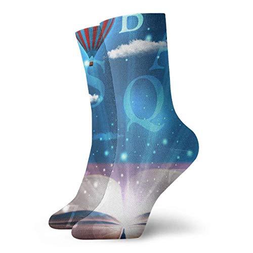 Kteubro Unisex High Ankle Cushion Crew Socks Art Books Casual Sport Socks