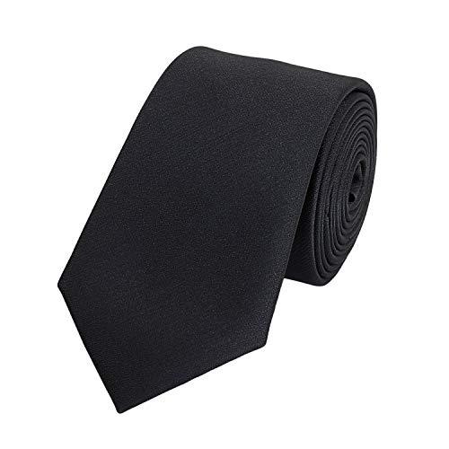 Fabio Farini - einfarbige und elegante Krawatte in verschiedenen Farben und Breiten zur Auswahl Schwarz 6cm