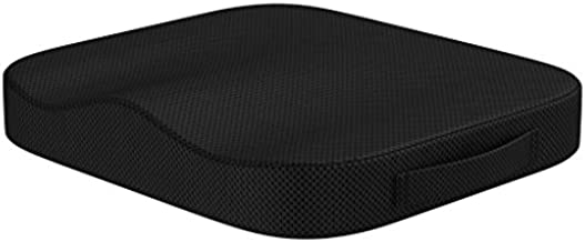 bonmedico Comfort Cushion - Home Office Memory Foam Seat Cushion for Coccyx/Tailbone & Sciatica Pain Relief, Great for Relief with Office Chair Cushion, Car Seat Cushion Or Wheelchair Cushion, Black