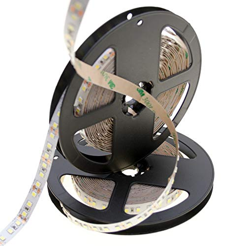 DEMUDO - Tira de luces LED (24 V, 6000 K, 16 W/m, 10 mm, 120 SMD/m, 2835, IP20, 100 lm/W, 5 m)