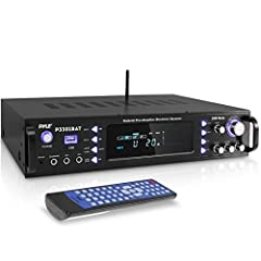 3000 WATT POWER: The stereo receiver amplifier for home theater system gives you 3000 watts max power w/ 1500W RMS and can support 2 sets of speaker for a high quality amplified audio. Perfect for karaoke & home theater acoustic surround sound system...