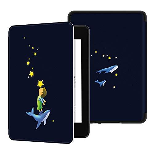 Ayotu Custodia in Pelle per Kindle Paperwhite 2018 - Case Cover Custodia Amazon Nuovo Kindle Paperwhite (10ª Generazione - Modello 2018), K10 The Star Kiss