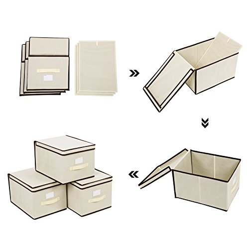 Set of 3 Fabric Storage Boxes with Lids  RFB03M