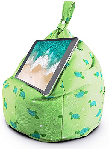 Tablet & Ipad Stand, Cushion Tablet Holder, Ideal For Ipad, Samsung, Huawei Or Any Tablet Up To 12.9 Inches, Two Pockets For Storage, Ergonomic Design (green)