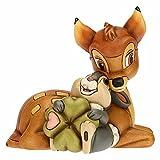 THUN ® - Bambi Disney® e Tamburino con Quadrifoglio Portafortuna