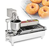 CGOLDENWALL NP-1 Máquina de Rosquilla Automático 6kW Donutera con Clindro de Material & Freidora丨Tres Moldes de Donuts - 80mm/60mm/40mm - 800-1200 PCs/h