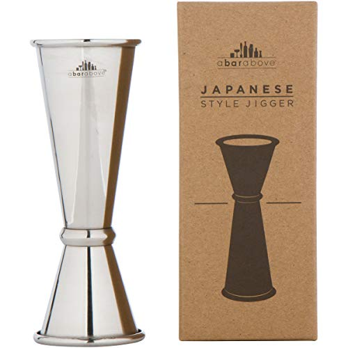 Japanese Jigger - Premium Double Cocktail Jigger, 1oz/2oz made from Stainless Steel 304
