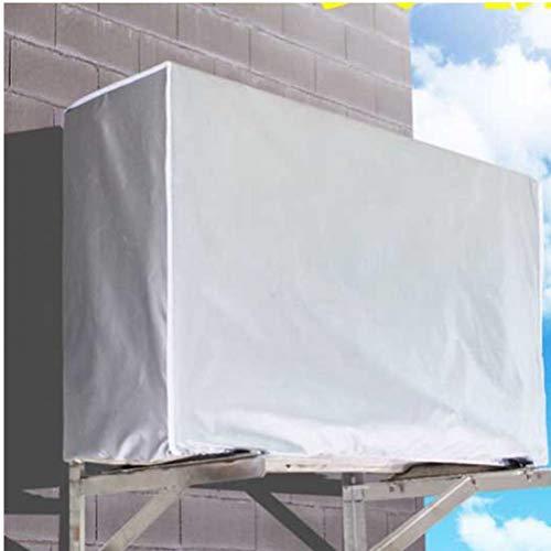 TOSSPER Lavare Anti-Polvere Anti-Neve Coprire la Pulizia Esterna Impermeabile di Copertura in Poliestere Aria condizionata condizionatore d Aria Coperchio di Pulizia (3 Cavalli)