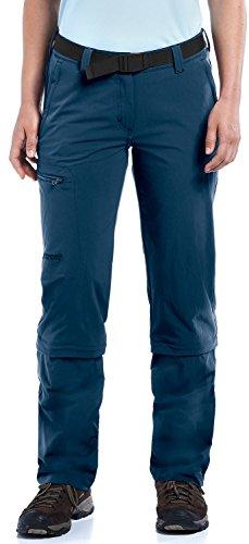 Maier Sports Damen Hose Arolla Zip Off, blau (aviator), 48
