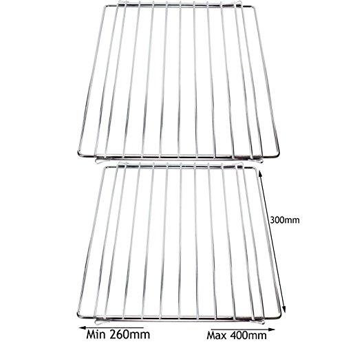 SPARES2GO Verstelbare Uitschuifbare Kleine Oven Plank voor AGA Range Oven Cooker (Pak van 2)