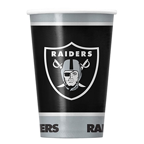 NFL Oakland Raiders Disposable Paper Cups, Pack of 20