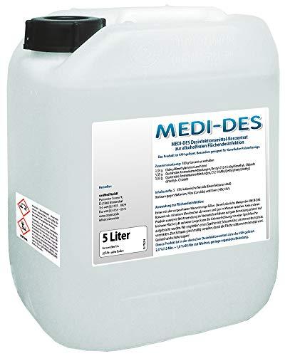 Desinfektionsmittel MEDI-DES von cosiMed für Flächen, 5 Liter