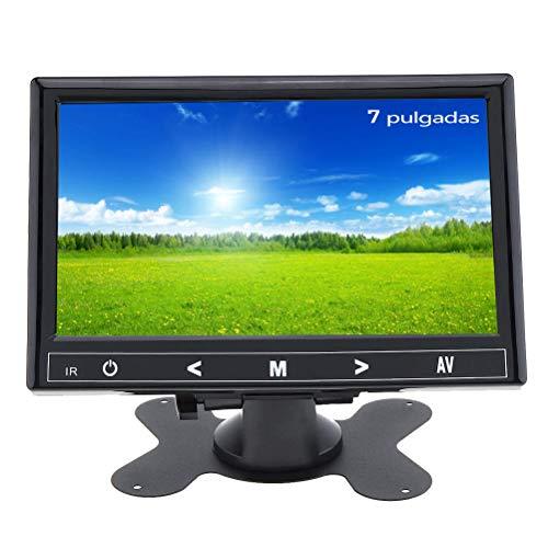 Portátil HDMI Monitor 7 Pulgadas 1024x600 HD LED Display CCTV Monitor con HDMI VGA AV Puerto Remote Control para automóvil Seguridad Cámara Raspberry Pi PC