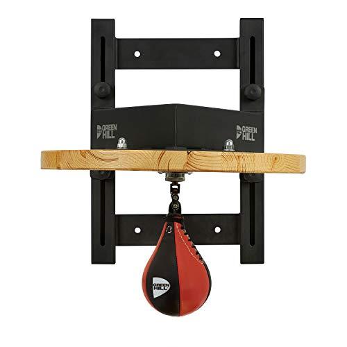 GREEN HILL Piattaforma Professionale Regolabile per Pera Veloce Boxe, Supporto peretta Pugilato, Staffa Speed Ball Boxing (PERETTA ESCLUSA, Piattaforma Sola (TASSELLI Metallici Base Inclusi))