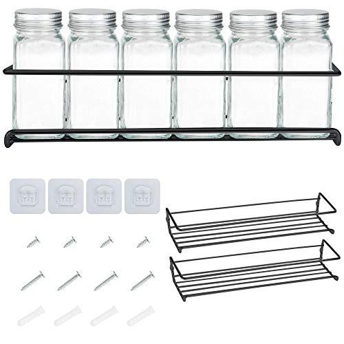 Deco Haus Organizador Especias - Set 2 Estantes de Metal - Estantes de Cocina, Armario, Organizador de Condimentos -...