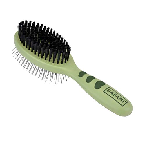 Safari by Coastal Pin & Bristle Combination Brush for Complete Grooming of All Dog Coat Types