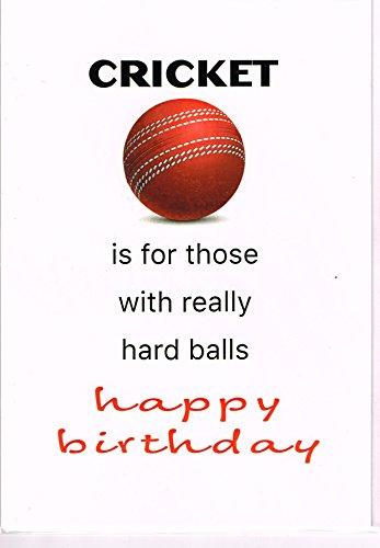 Element Gifts Geburtstagskarte Cricket is for Those with Really Hard Balls (englischsprachig), Weiß, Einheitsgröße