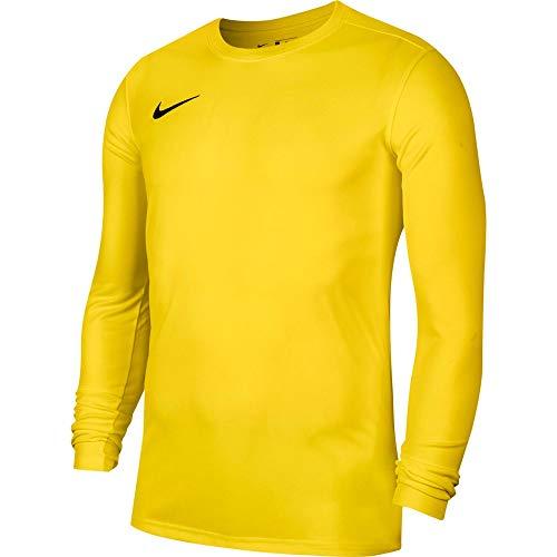 NIKE M NK Dry Park VII JSY LS Camiseta de Manga Corta, Hombre, Tour Yellow/Black, XL