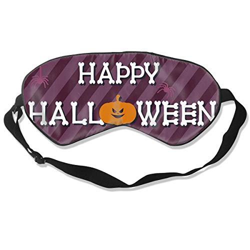 Schlafmaske, Halloween-Hintergrund-Design, Seide, Maske mit verstellbarem Kopfband, Block, leichtes Nickerchen