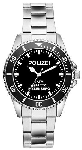 Polizei Geschenk Artikel Idee Fan Uhr 2414