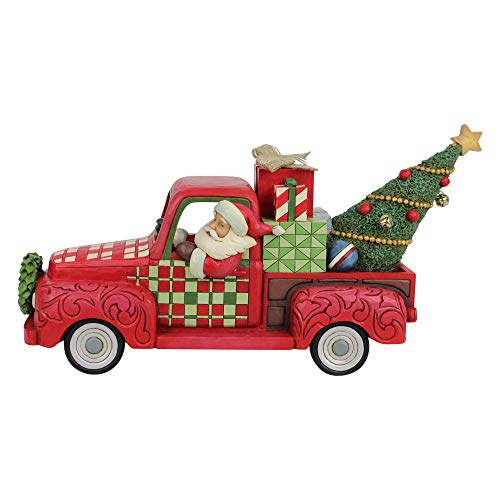 Enesco Country Living by Jim Shore Santa in Red Truck Figurine