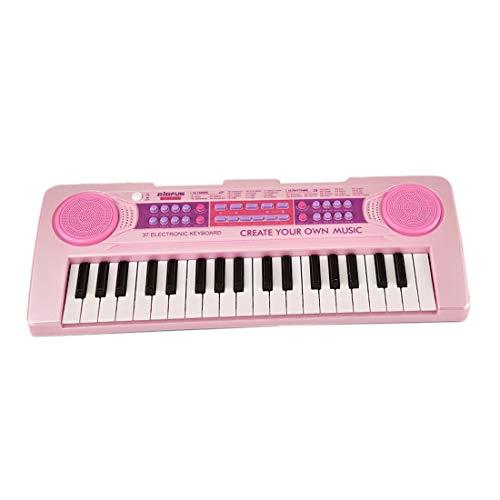 Haunen Kinder Klavier 37 Tasten Multifunktions Klaviertastatur Electronic Kinder Keyboard mit Mikrofon für Kinder Geschenk