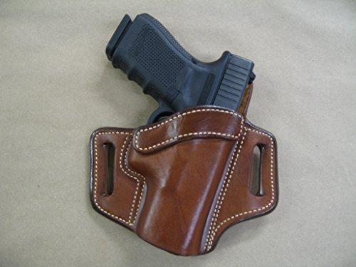 Azula OWB Leather 2 Slot Molded Pancake Belt Holster for Glock 19, 23, 32 CCW TAN RH