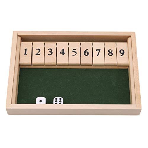 KYMLL Shut The Box Game Hölzerne pädagogische Numeracy-Fähigkeit - Geschenk für Familie und Freunde