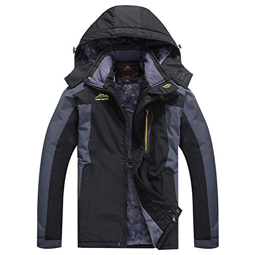 FRAUIT Cappotto Uomo Invernale Caldo Jacke All'Aperto Ispessimento Giacca Militare Giacche Sportive Eskimo con Cappuccio Fodera Parka Giacca Lunga Invernale