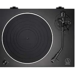 Direct-drive, low noise motor. Fully manual operation with three speeds: 331/3, 45 and 78 RPM. AT-VM95E Dual Moving Magnet stereo cartridge (black) with replaceable stylus. Lightweight AT-HS6 headshell. J-shaped tonearm, modeled after original Audio-...