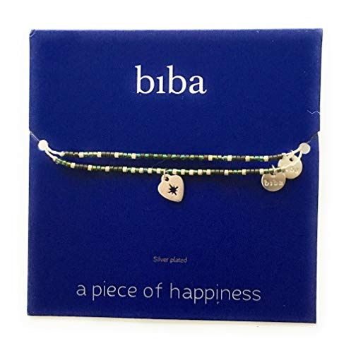 Wunschkarte SET Herz Heart Armband silber grün open Freundschaftsarmband Make a Wish CLW Biba