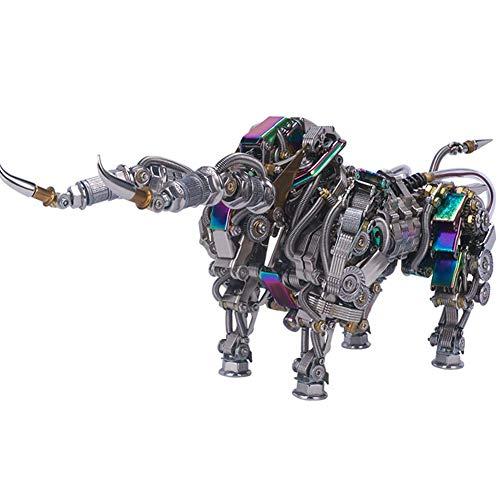 XDJ Puzzle 3D Metallpuzzle, Stier Metallmodell, Steampunk Tier Serie, Weihnachten...