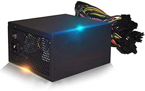 1800W Modulares ATX-Netzteil 6 Grafikkarte PC Desktop-Netzteil Netzteil 160-240 V Netzteil Mining-Maschine für R9 380 RX 470 RX480 6 GPU-Karten Mining-Rig ATX-Ethereum