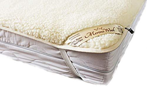 Merino Wool Ropa de cama, ropa de cama natural WOOLMARK colchón de lana de la cubierta de la hoja de producto natural, lana bajo manta (140 x 200 cm)